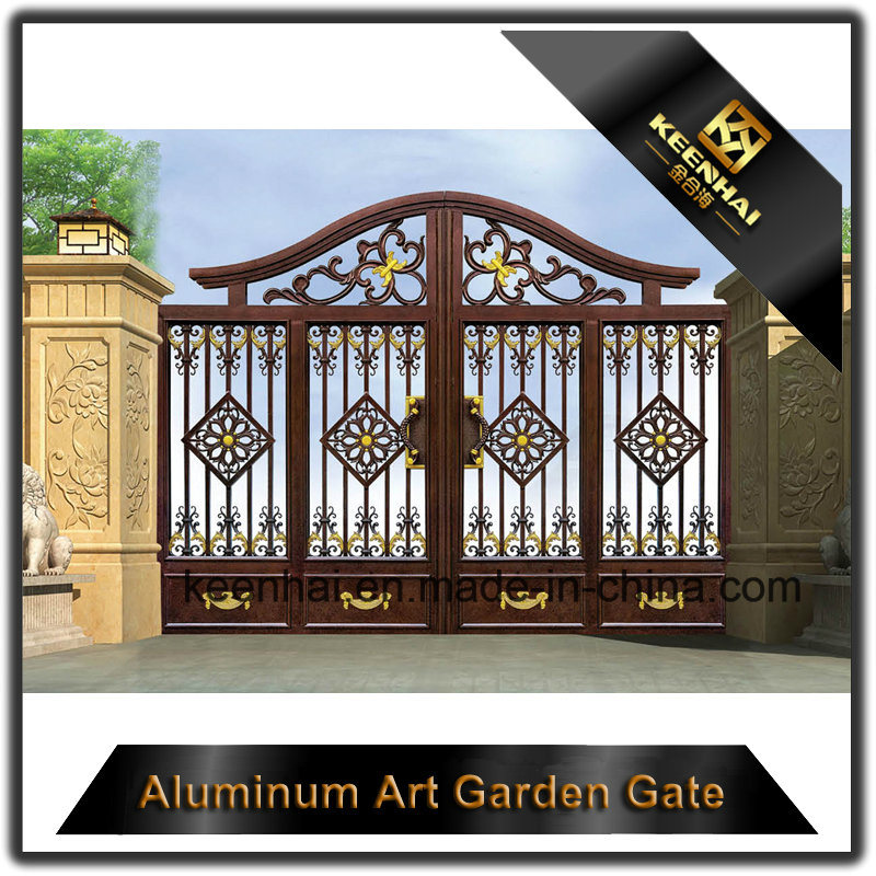 Decorative Color Power Coated Metal Cast Aluminum Garden Gate pictures & photos