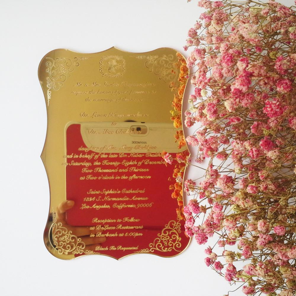 China Customized Engraved Acrylic Wedding Invitation Cards - China ...