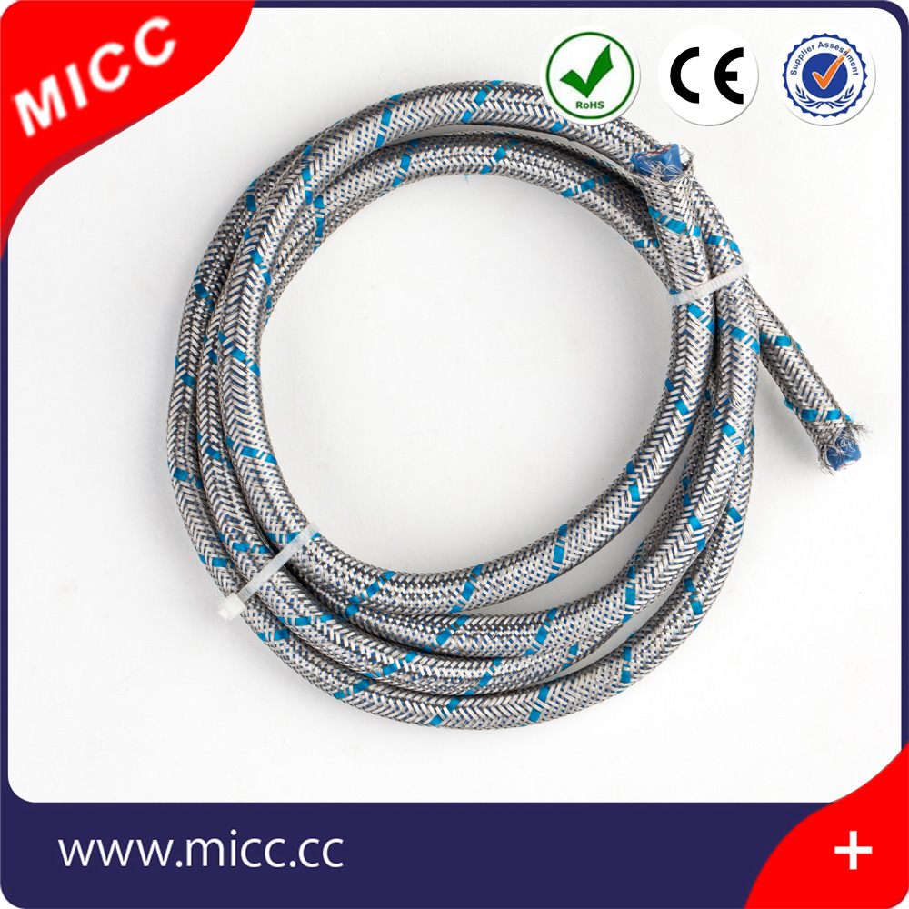 China Micc Jis 14awg Thermocouple Extension Wire Type K Teflon Braided Stainless Harness Insulated With Ssb