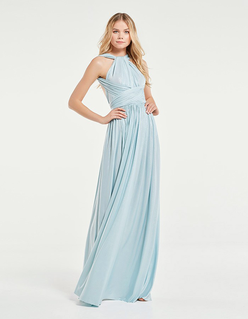 China Light Blue Sparkling Multi-Way Bridesmaid Dress Photos ...