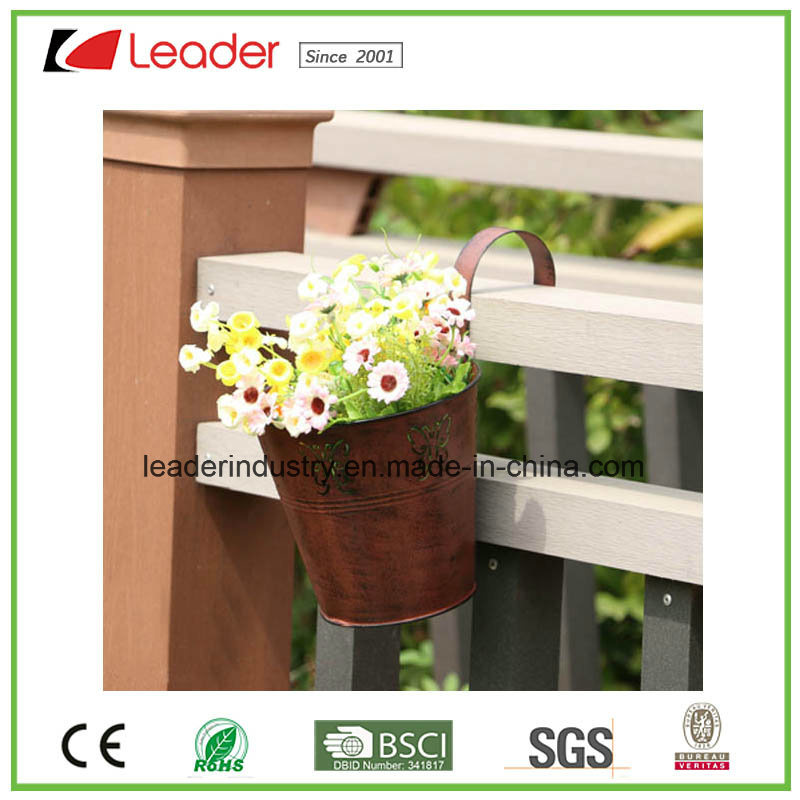 Hand Painted Metal Power Coated Rustic Crown Flowerpots for Home and Garden Decoration pictures & photos