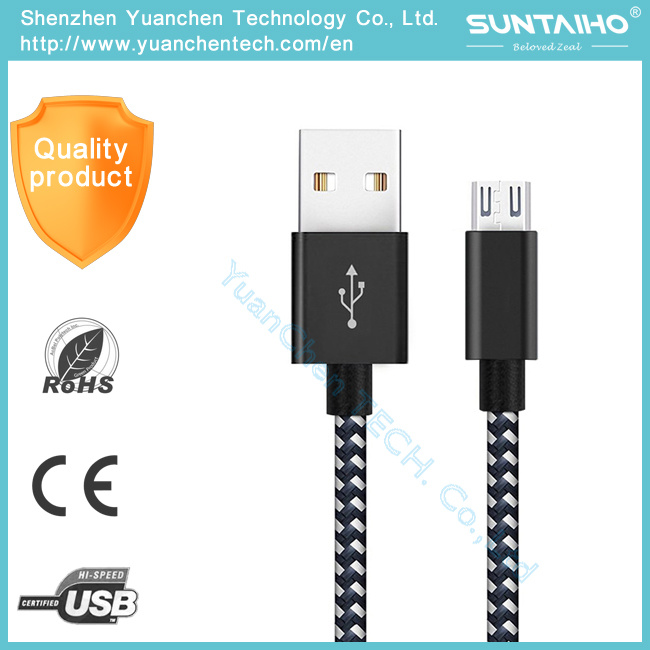 Newest Universal Braided Micro USB + 8 Pin USB Charger Data Cable for iPhone 7 7plus Ios, Android All Phones pictures & photos