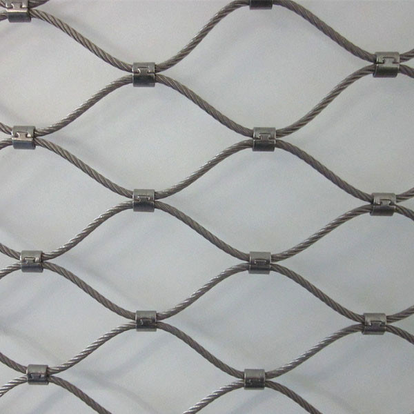 China Handrail Screen Fencing Ferrule 304L Stainless Steel Rope Mesh ...