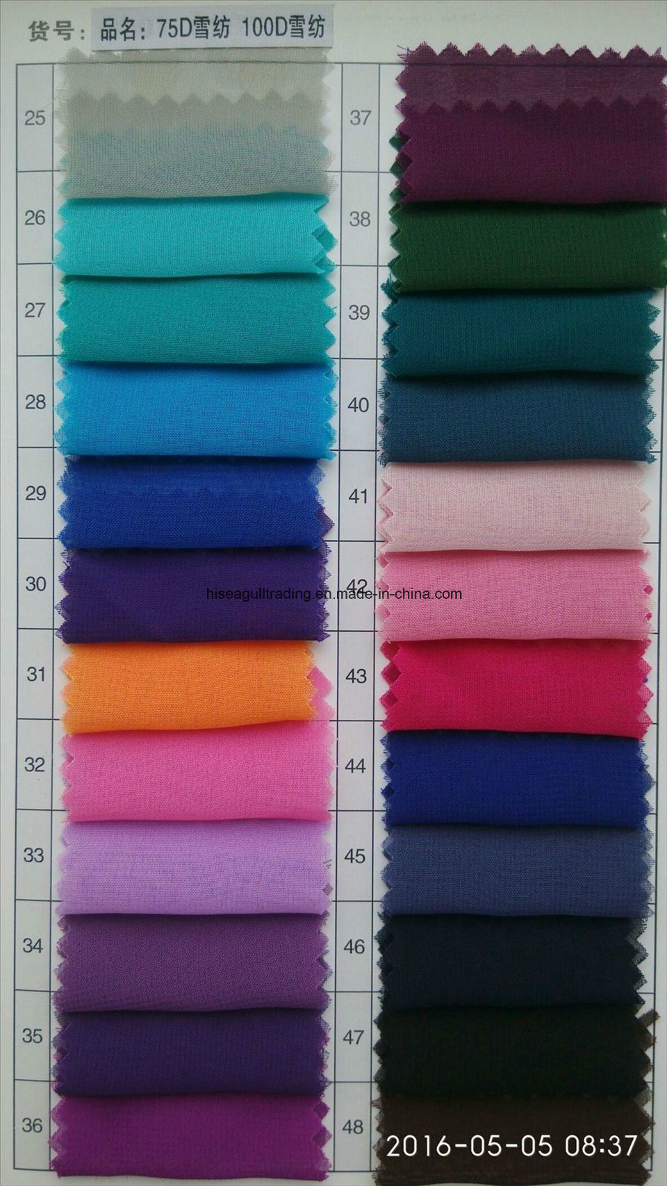 100d*100d Polyester Chiffon Fabric for Skirt, Scarves etc pictures & photos