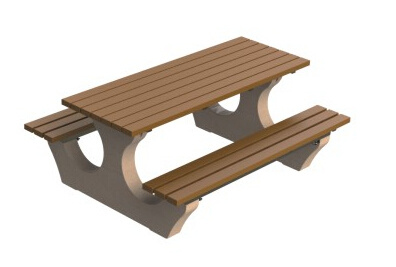 Pleasing Hot Item Hot Sale One Piece Non Fold Plastic Wood Outdoor Picnic Table And Chair Fy 563H Gmtry Best Dining Table And Chair Ideas Images Gmtryco