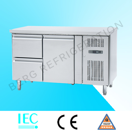 Commercial Stainless Steel Undercounter Refrigerator and Freezer