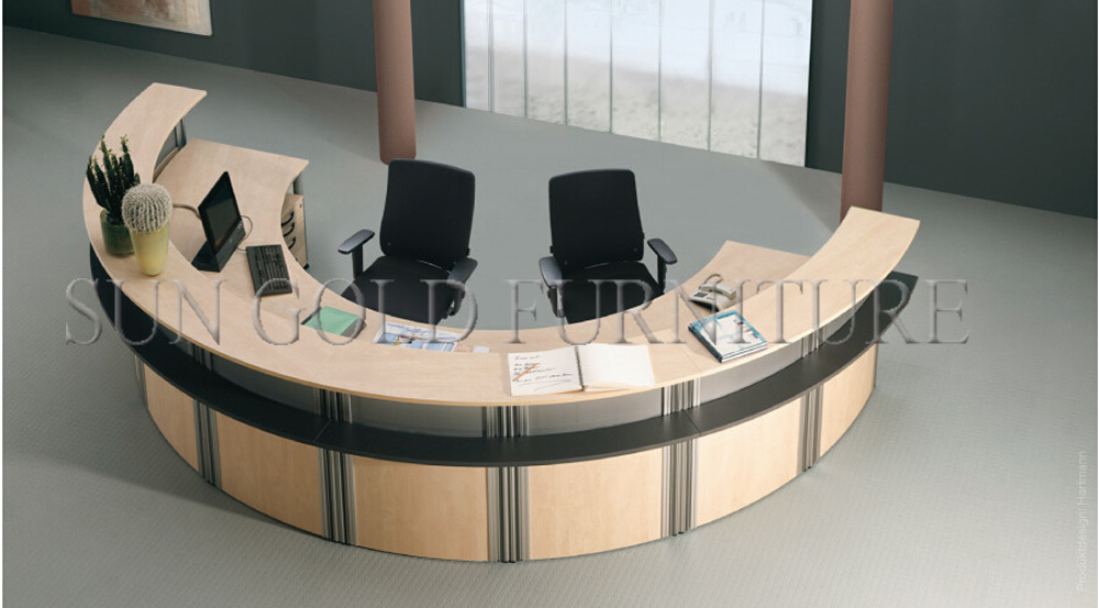 China Modern Customized SemiCircle Wood Reception Desk SZRT - Semi circle conference table