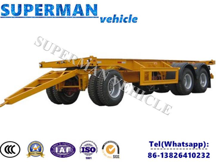 China Utility Tri Axle Frame Drawbar Full Dolly Semi Truck Trailer ...