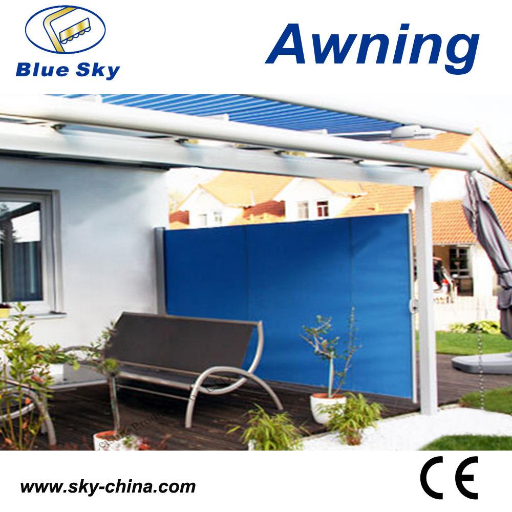 Garden Sunshade Aluminum Polyester Retractable Screen Awning