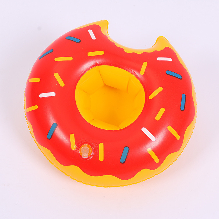 Mini Inflatable Swimming Pool Party Drink Floats Donuts Coasters Water Floating Cup Holder pictures & photos