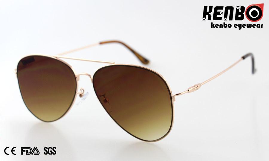 f3b30de07c71 China New design Fashion Metal Sunglasses with Flat Lens CE Km15256 - China  Sunglasses
