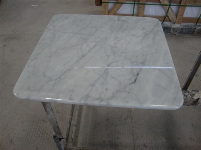 China Bianco Carala Marble Italy White Coffee Carrara Table Top Tile