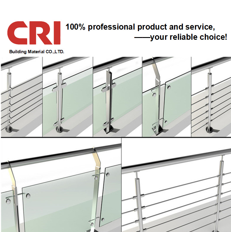 [Hot Item] Foshan Stair Staircase Balcony Handrail Design Glass Clamp Glass  Spigot Swimming Pool Handrail Stainless Steel Balustrade Handrail
