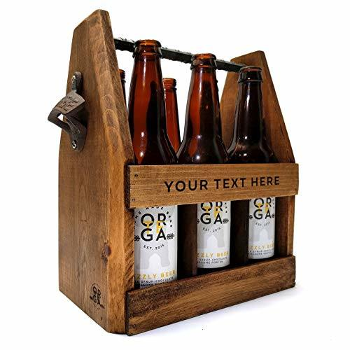 China Handcrafted Wooden Beer Carrier With Bottle Openercustomized