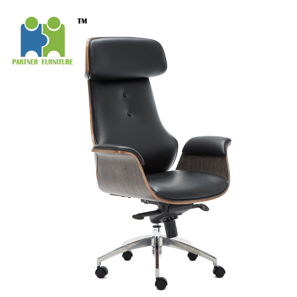 China Jackie Ergonomic Office Chair Modern High Back Oak Wooden Frame Chair China Office Chair Executive Chair