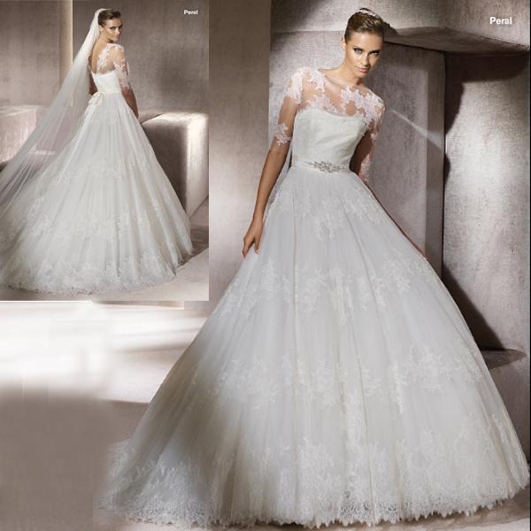 China French Lace Wedding Dress (111092)