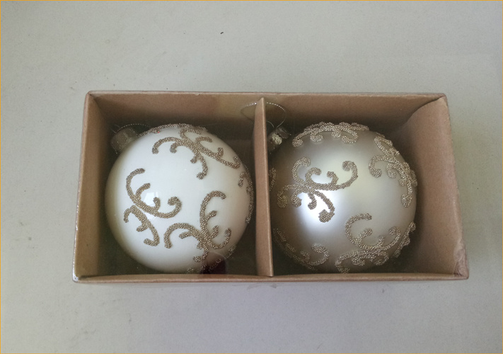 Hot Item Hand Painting Round Shaped Glass Christmas Ornaments