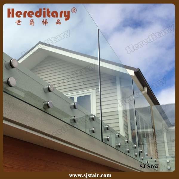 China Frameless Glass Railing Glass Balustrade For Balcony Sj