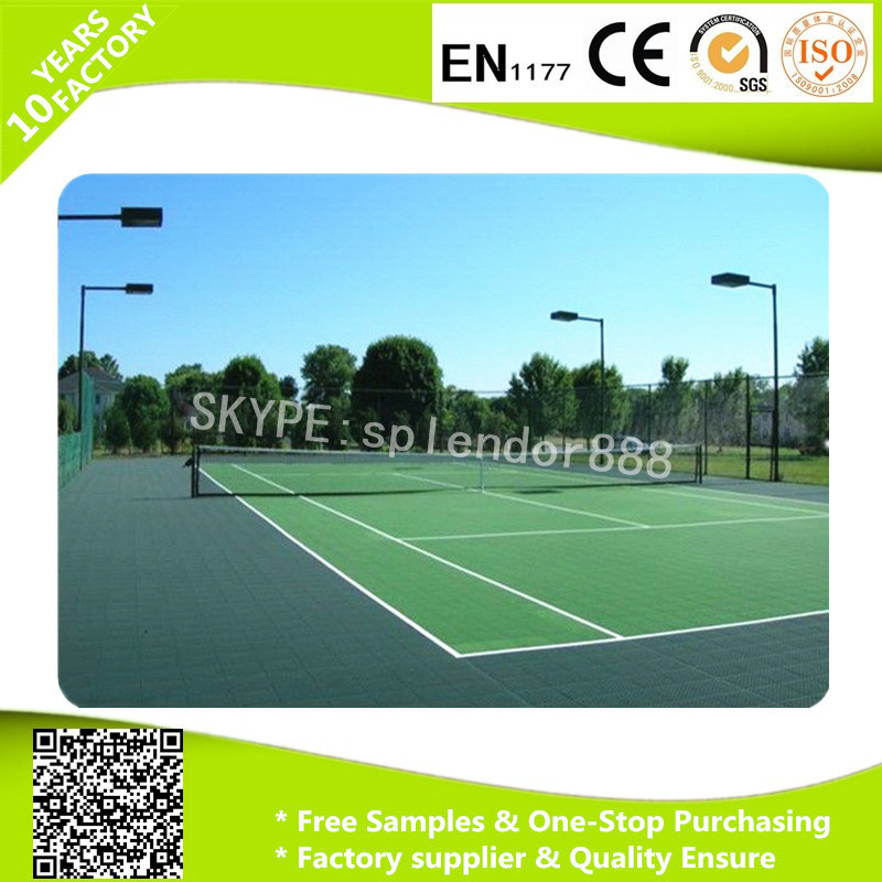 China Pp Outdoor Interlocking Plastic Floor Tile For Basketball