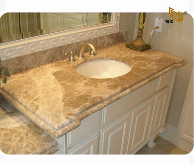 Hot Item White Yellow Brown Black Grey Light Emperador Marble Bathroom Vanity Top For Hotel Kitchen Granite Quartz
