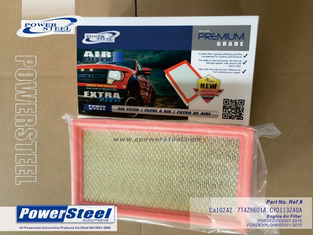 China Powersteel Air Filter Cy0113z40a Ford Edge Ca10242 7t4z9601a Traverse Fuel Cabin Auto Filters