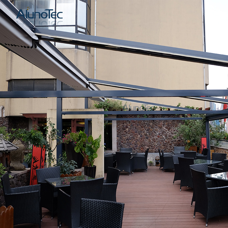 patio covers pergola retractable china system restaurant with awning productimage sshmwjncljkr led light pvc