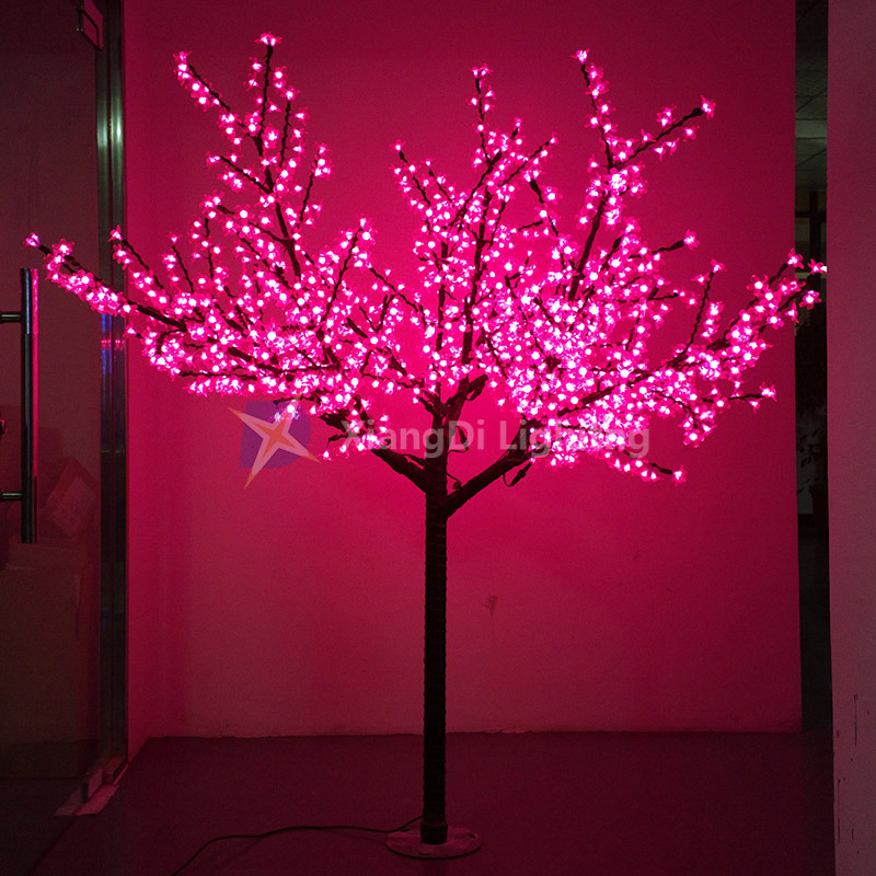 Hot Item Artificial Cherry Blossom Tree Light Pink Color Waterproof Ce Rohs