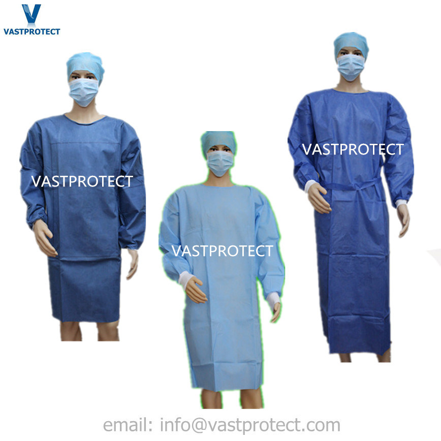 China Sterile Reinforced Non Woven SMS Disposable Surgical Gown ...