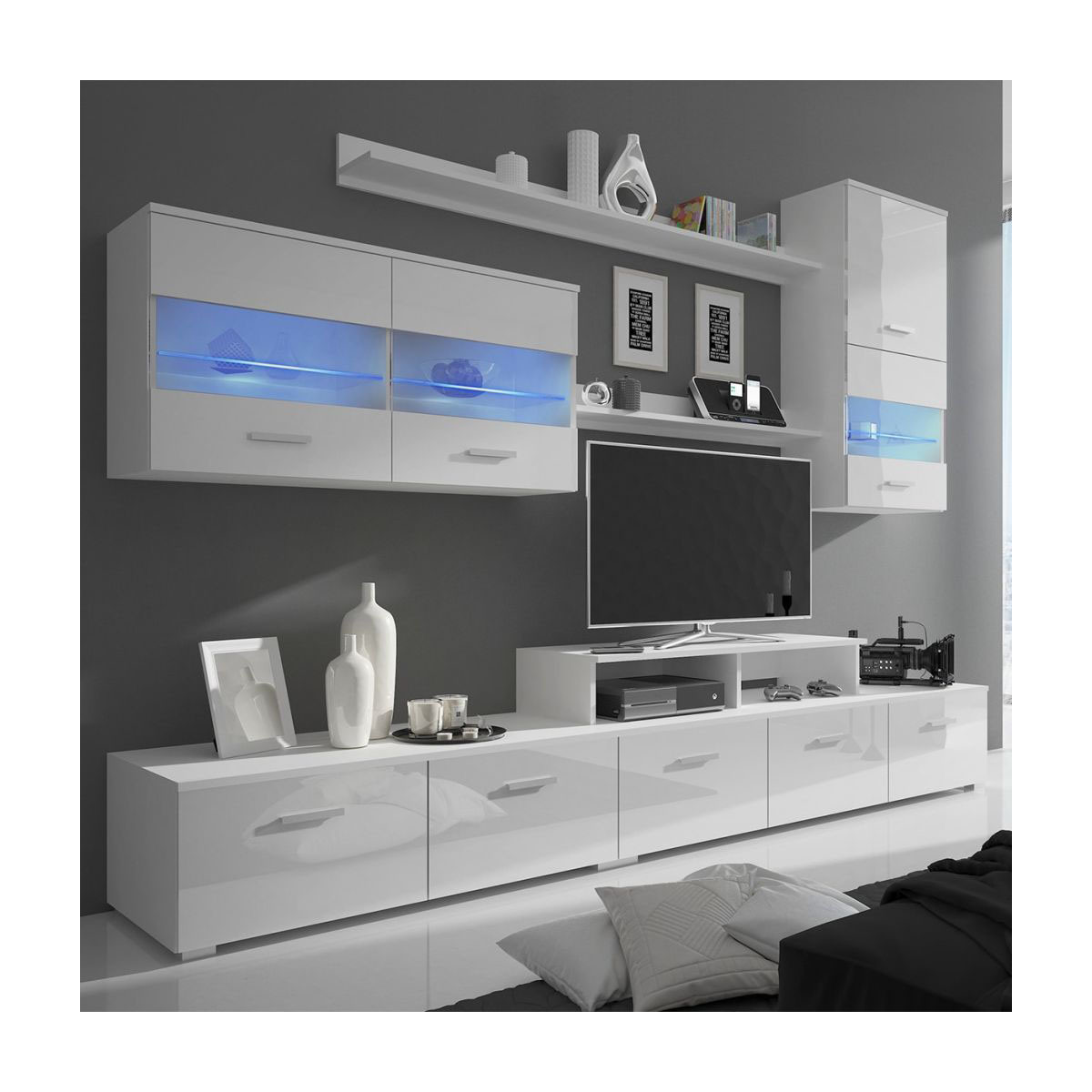 Tv Stand New Designs : China latest design led glossy tv stand wall hall cabinet china tv