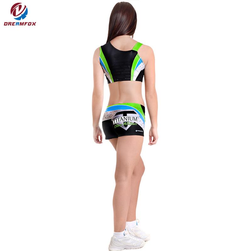 08bda167ec Breathable Girls Dance Practice Wear Custom Sublimation Printing Cheerleading  Uniforms