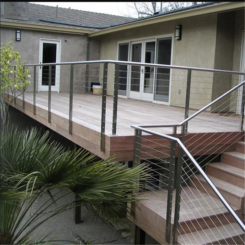 China Balcony Railings Wire Rope Barriers Post for Handrail - China ...