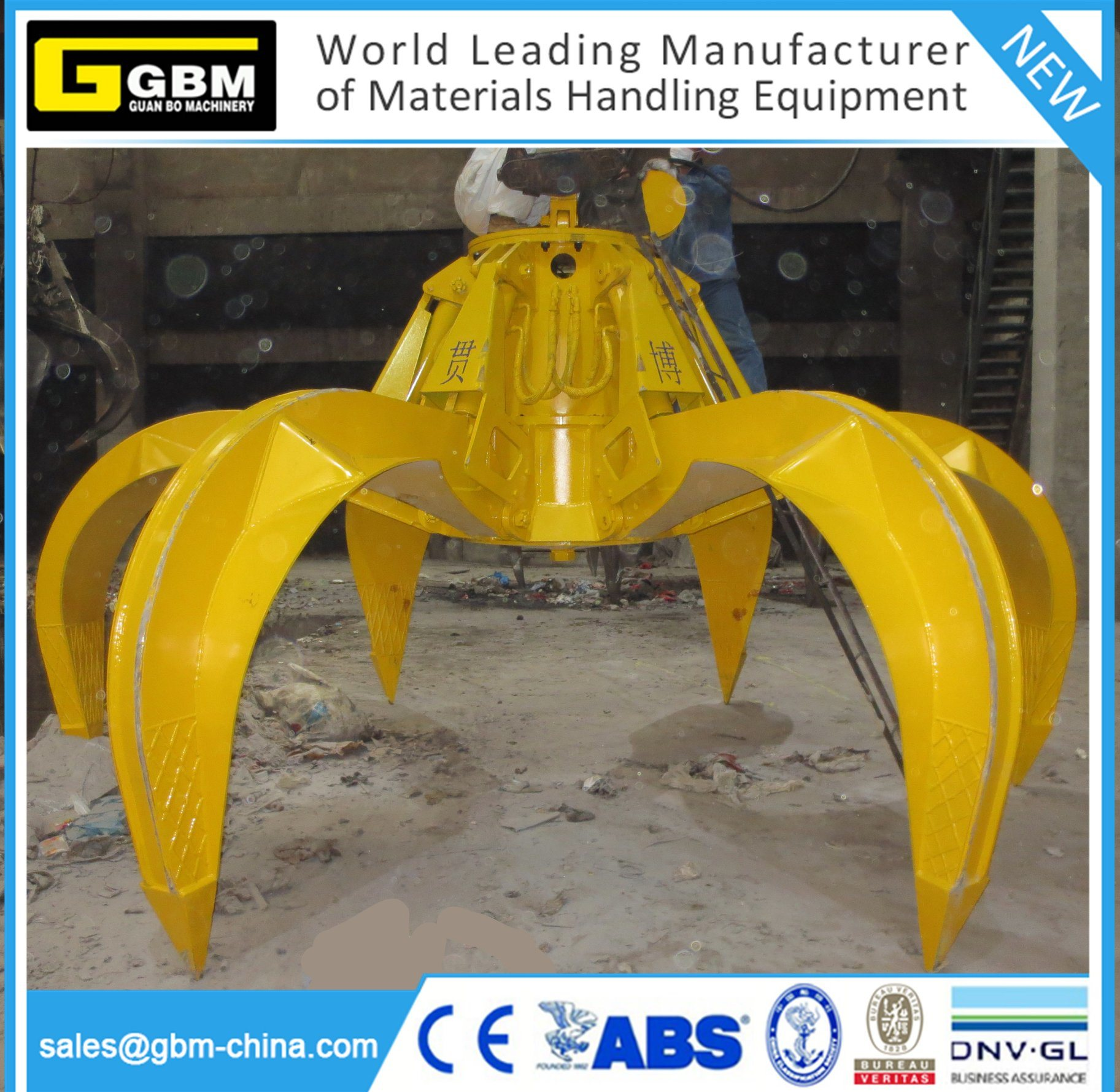 12m3 Electro Hydraulic Clamshell Grab Bucket - Buy