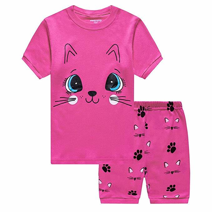 0ad847868 China Little Girls Pajamas Toddler Short Sleep Wears Kids Summer ...