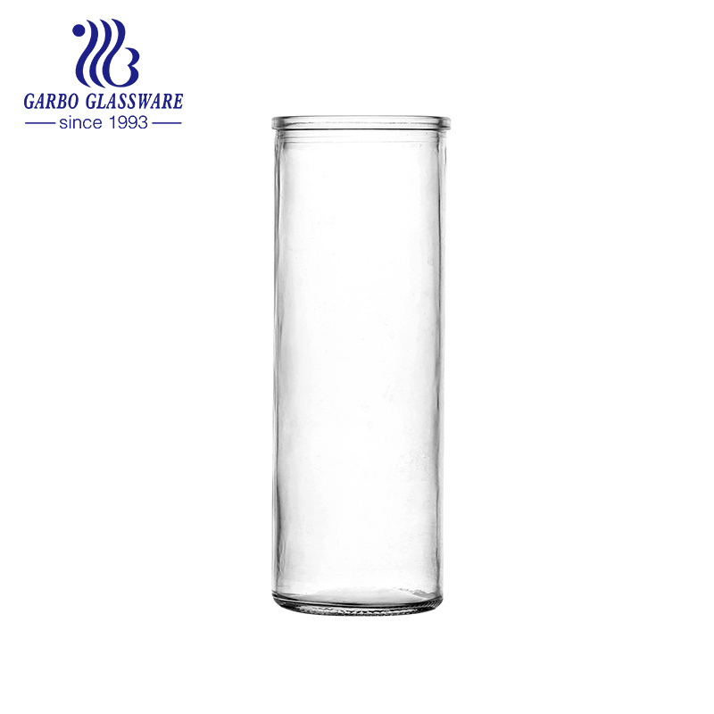 Hot Item 440ml Mexican Clear Glass Candle Holder Gb46390440