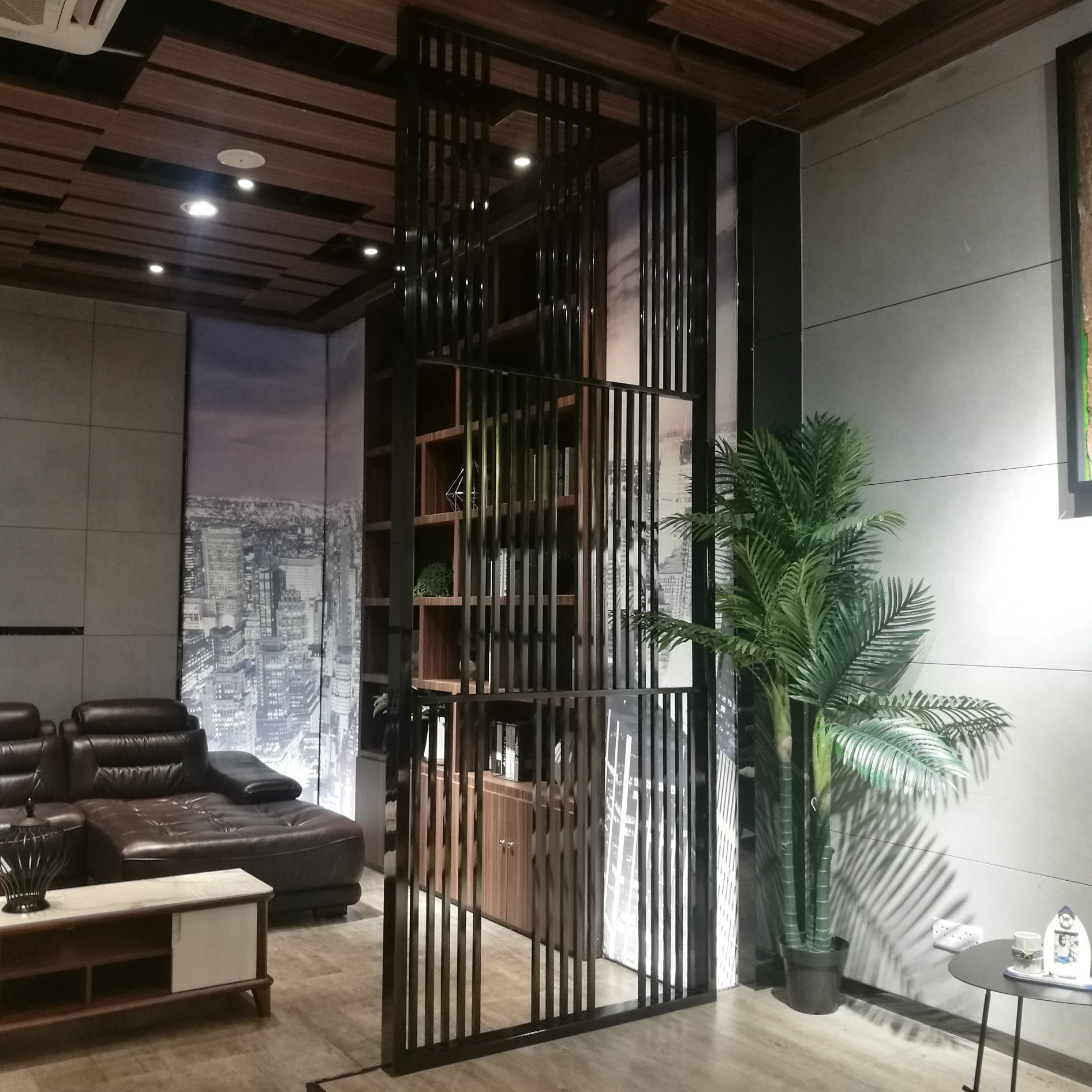 Hot Item Showroom Metal Screen Partition Wall Living Room Stainless Steel Room Divider