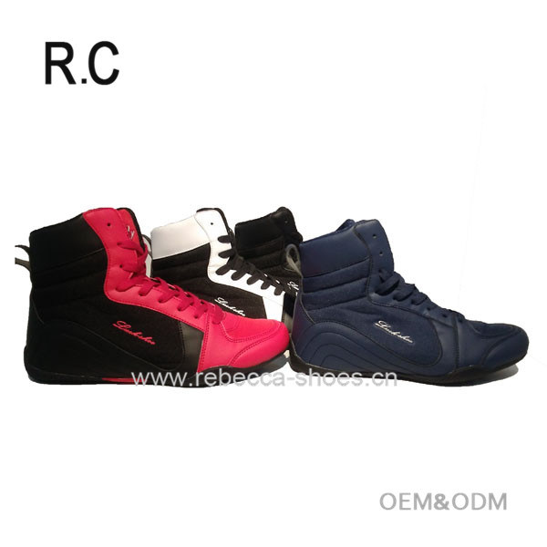 ce47dbf0b542 China High quality Custom Brand ODM   OEM Boxing Wrestling Kabaddi MMA  Combat Athletic Trainer High Top Shoes Boot Sports Wholesaler - China  Boxing Shoes