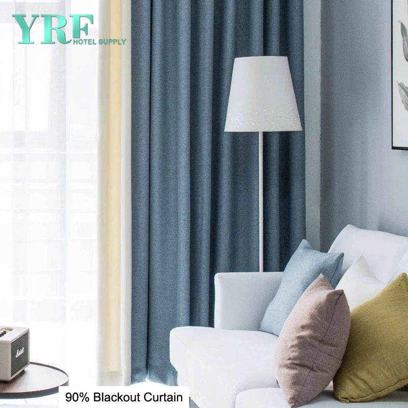 China Bedroom Linen Navy And White Blackout Curtains For Yrf Photos Pictures Made In China Com