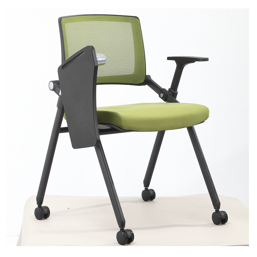 [Hot Item] China Office Furniture Folded Student Training Study Chair with  Writing Pad