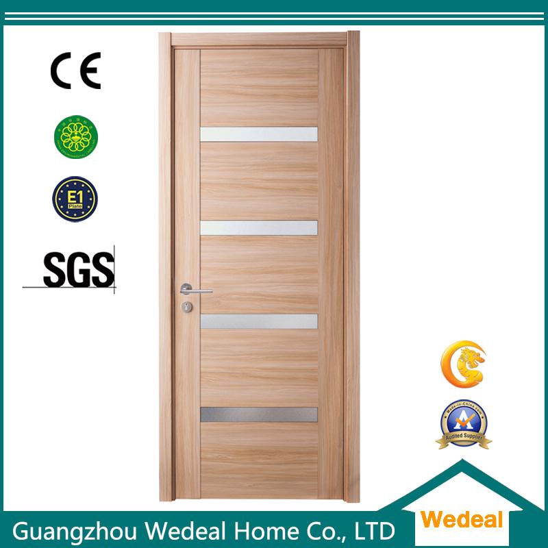 China Modern Readymade Simple Wood Veneer Flush Interior Door With