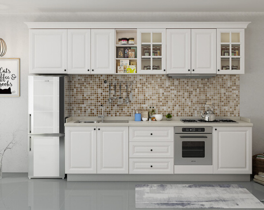 Country Style Kitchen Cabinet Doors China Country Style Modular White PVC Door Kitchen Cabinets for