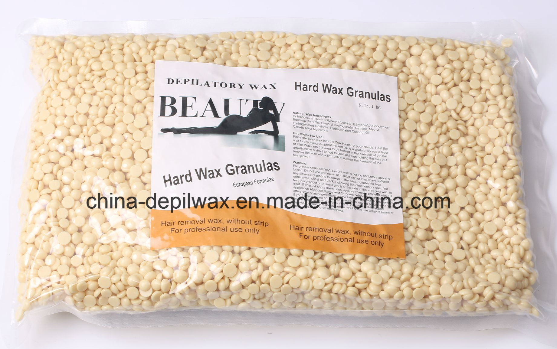 Red Hot Film Hard Wax Pellets Depilatory Wax for Stripless Waxing