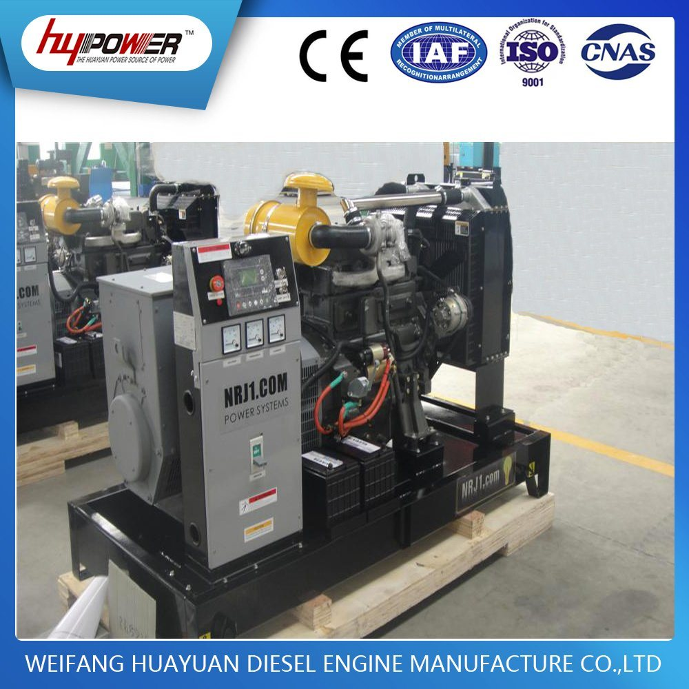 China 30kVA Open Electric Start Diesel Generator with Weifang 4 ...
