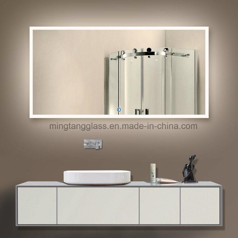 China UK Wall Mounted LED Backlit Illuminated Bathroom Mirror Photos ...