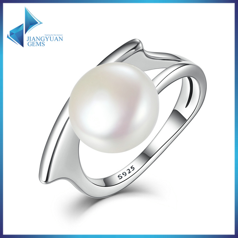 New Collection 100% 925 Sterling Silver Freshwater Cultured Pearl Rings for Women Wedding Jewelry
