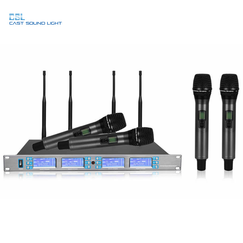 2019 Professional Stage Performance 4CH Wireless Microphone pictures & photos