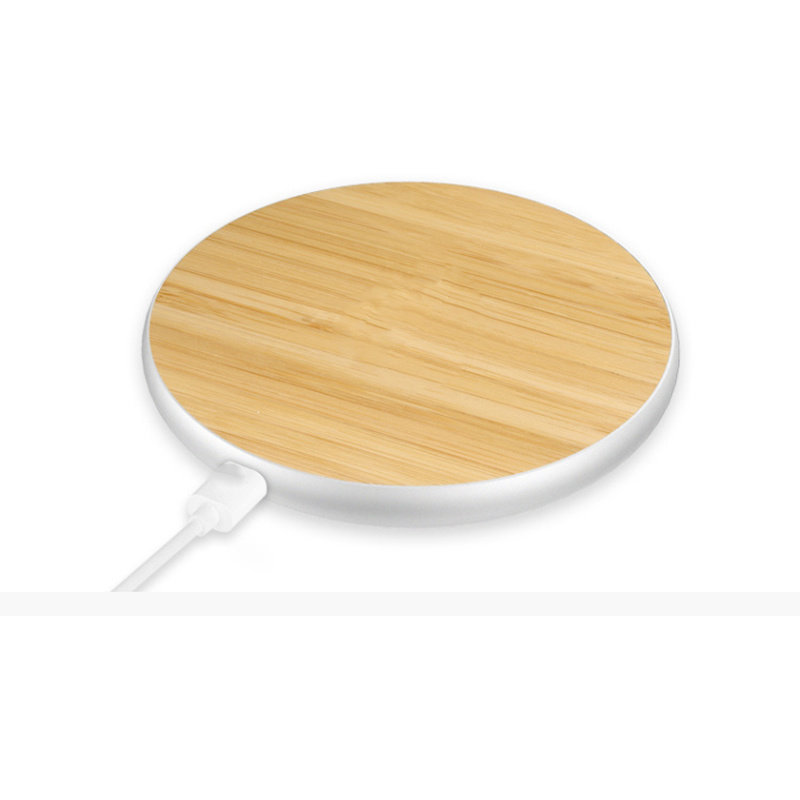 Slim Portable New Bamboo Wireless Charger Smartphone Charging Pad pictures & photos