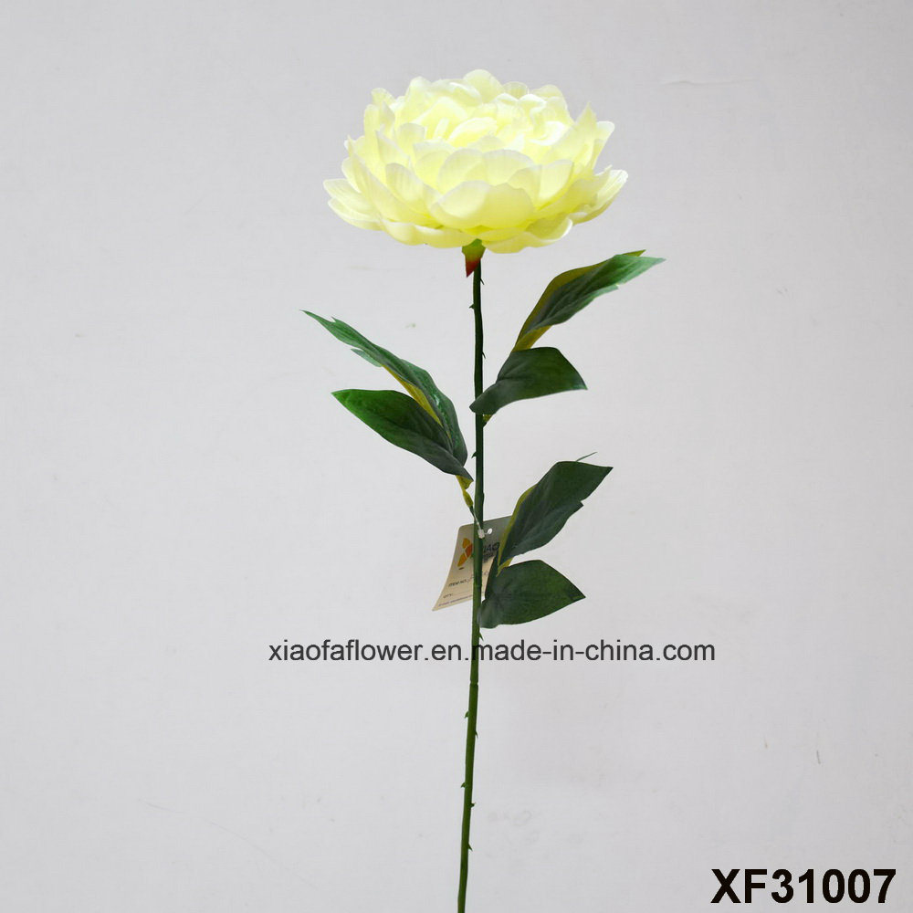 China Artificialplasticsilk Flower Single Stem Of Peony Xf31007