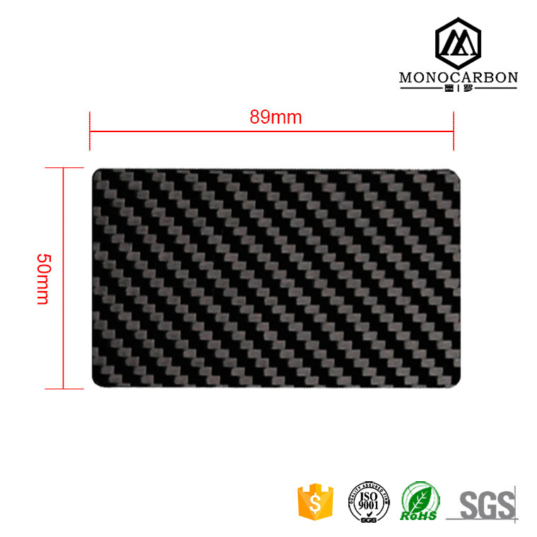 China Standard Size Carbon Fiber Business Card Customized Black ...