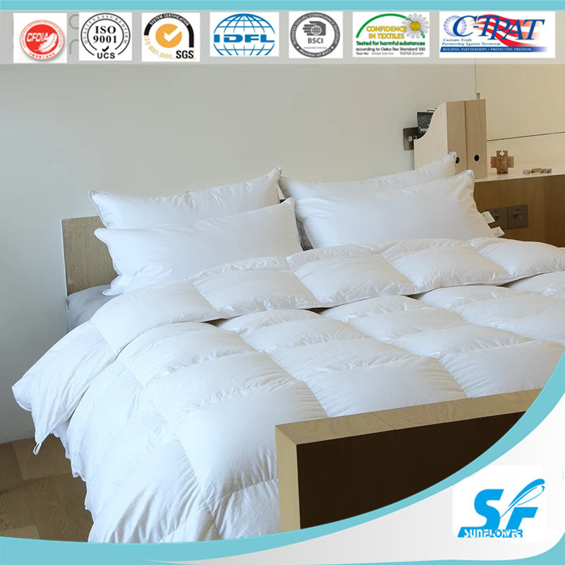China Widely Used Hot Sale Bed Sheets Goose Down Quilt Set   China Down  Comforter, Down Quilt