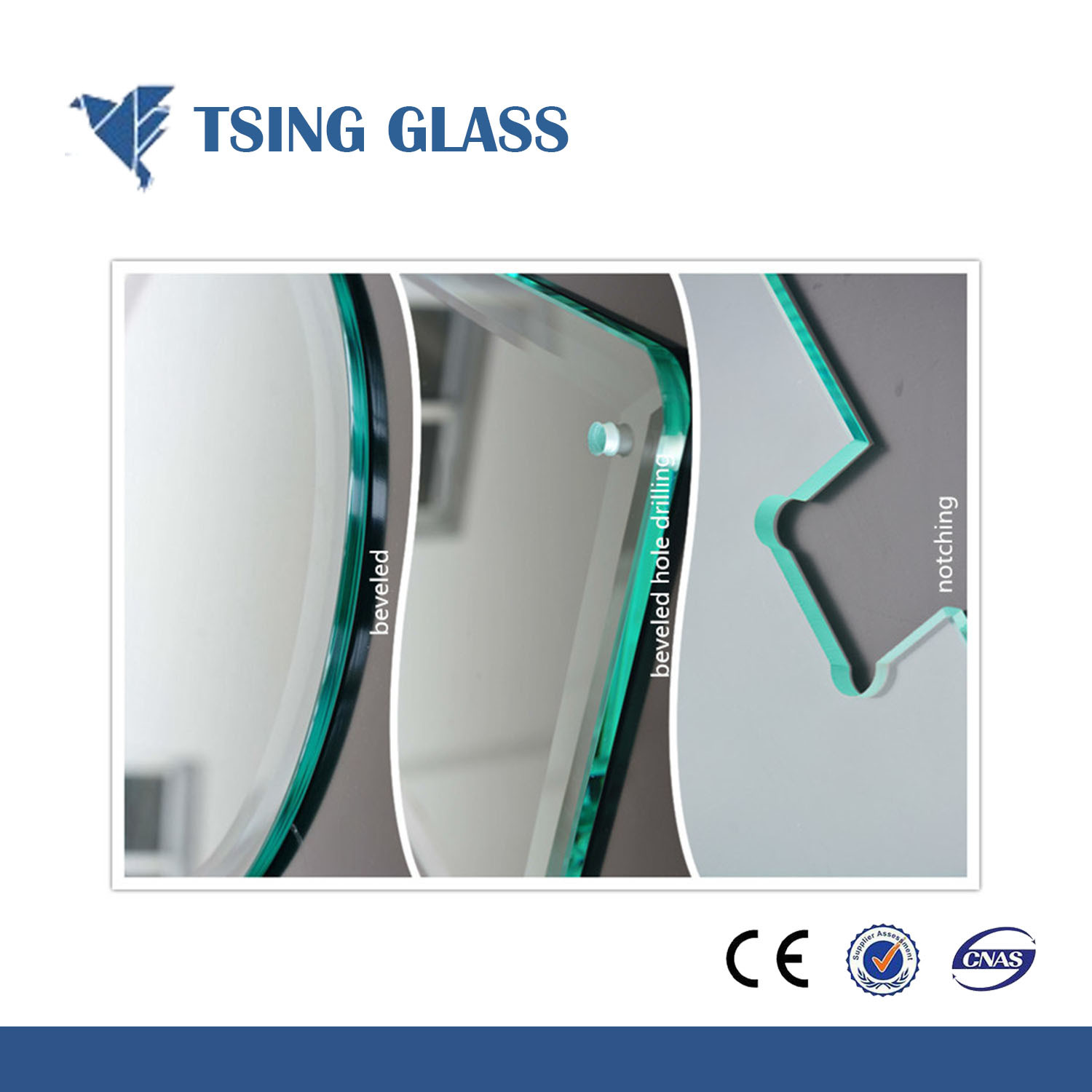 China Cut Sizes Samll Pieces Toughened Glass Tempered Glass
